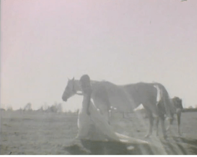 A Bride & a Horse Rock the Dress on Super 8mm Film! {First Kiss Films}