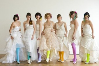 Multicoloured Tights & Hair for Brides! {Just Because}