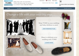 TOMS: One for One…Inspirational Wedding Footwear?