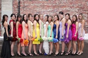 A Chic, Unique & Oh So Creative Rainbow Wedding {Part 1}