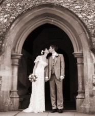 And The Bride Wore a Stunning, DIY Lace Wedding Dress {1}
