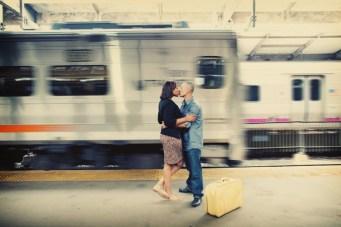 A Nostalgic Train Station Engagement Shoot