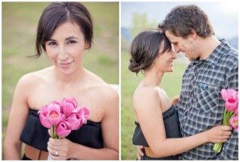 A Cute Engagement Shoot: Long Distance Love & Cupcakes