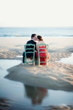 A Stylish & Stunning Beach Engagement Shoot in France