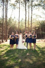 Rustic Outdoor Wedding: Navy, Stripes And Fabulous Florals