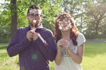 A Charming and Playful Engagement Shoot: Too Cool For School