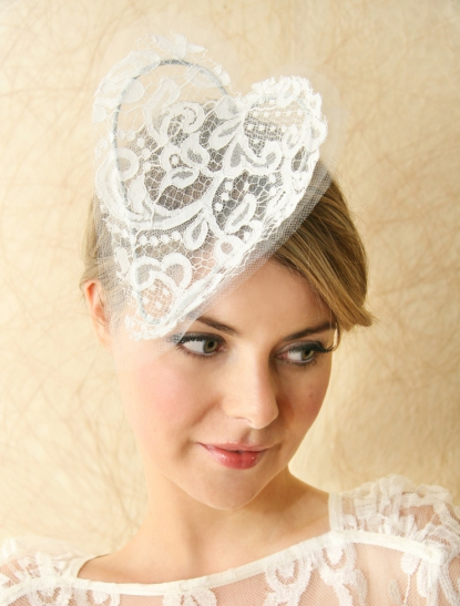 Make a statement with an over sized lace heart headpiece by Suzy O 39 Rourke