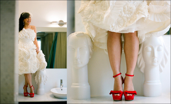 Red Color Wedding Shoes