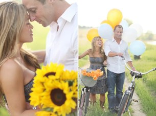 Beach, Bicycle and Balloons Engagement Shoot