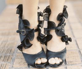 Tuesday Shoesday: Black Ruffles