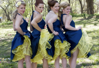 Retro Inspired, Navy & Yellow, Woodland Wedding Part 2