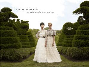 BHLDN's Latest Bridal Attire: Victoriana Separates