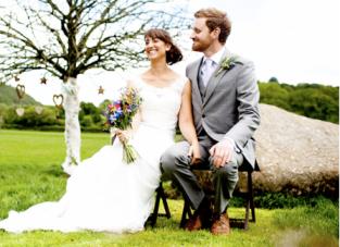 An English 'Country Bumpkin' Outdoor Wedding