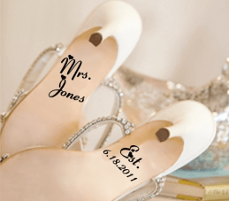 BUY or DIY? Messages On Wedding Shoe Soles {Tuesday Shoesday}