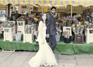 Dusky Pink, Folksy, Vintage, DIY Wedding in London Town