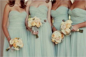 Pale Aqua, Blush Pink & Peach Wedding Inspiration