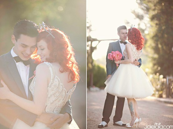 Brides with red hair rock wedding hairstyle inspiration bridal