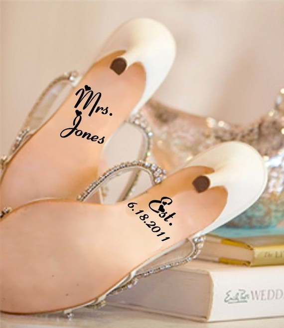 Wedding Shoe Decals & Messages On Soles: BUY Or DIY?