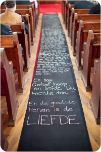 chalk board aisle by Lizelle Lotter