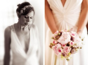 A Glamourous DIY Wedding: Sparkle, Jade & Pale Pink Peonies