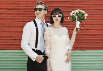 Lace & Ray-Bans: Is This The Coolest, Chicest Wedding Ever? {2}
