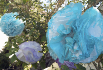 DIY Dip Dyed Paper Pom Poms by Anna Lee Company