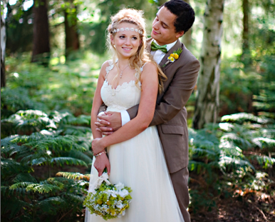 beautiful boho bride and groom | jade alana photography