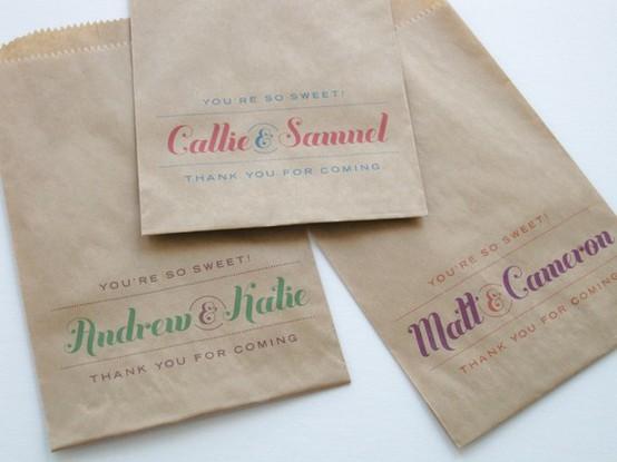 Paper Bag Wedding Favor Ideas : Here are a few more ?advancedDIY ideas for all you crafty folk: