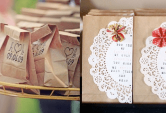 How To Dress Up Brown Paper Bags For A Wedding
