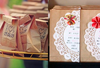 Paper Bag Wedding Favor Ideas : How To Dress Up Brown Paper Bags For A Wedding
