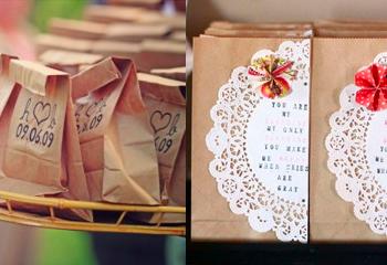 paper bag favours