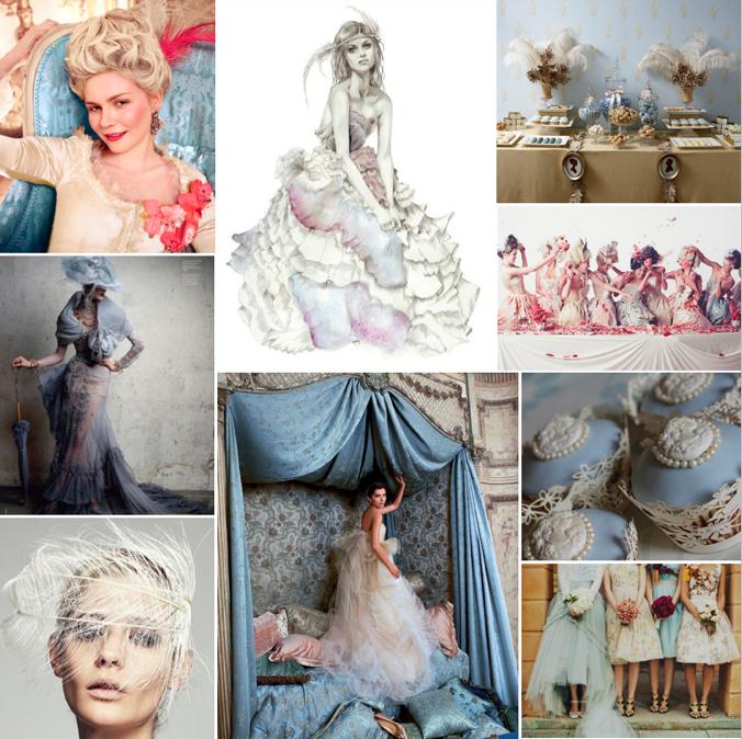 Marie Antoinette, Drama & Decadence Wedding Inspiration