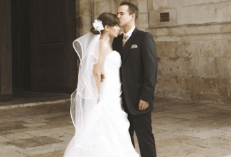 Classically Beautiful Pink, Red & White French Wedding
