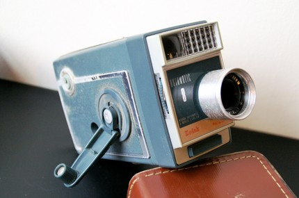vintage video camera wedding videography