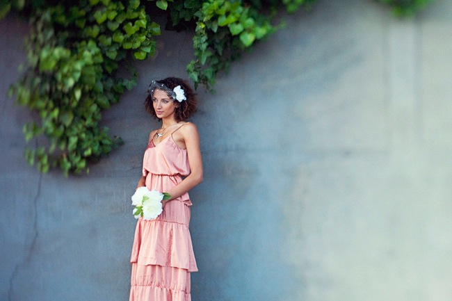 Pink wedding dress, bride, Marion Heurteboust Photography | Bridal Musings (10)