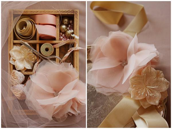 Bridal Makeup Flower Making : Fabric hair flowers for brides buy or diy