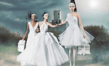 David Fielden: Urban Destruction vs Gorgeous Wedding Gowns