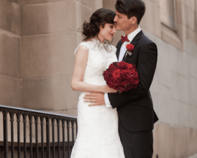 A Beautiful Black, White & Red Wedding Fit For Royalty