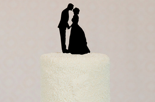 Silhouette Cake Topper DIY