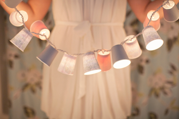 DIY Dixie Cup Light Garland