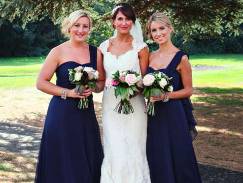navy blue bridesmaid dresses | exhibit emotions