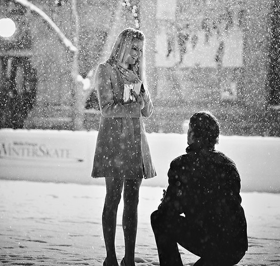 snowy magical proposal