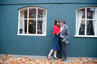 Behind The Scenes: Autumnal Vintage 1940s Engagement Shoot