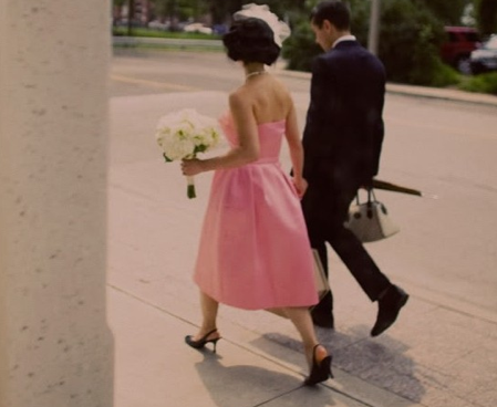candy pink and black wedding inspiration