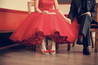 Break The Unwritten Wedding Dress Rule ~ Be A Rainbow Bride
