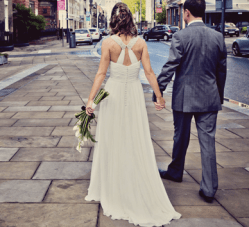 City Chic White & Purple Rooftop Wedding In Liverpool