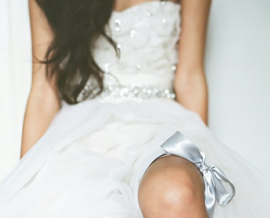 bride wearing garter