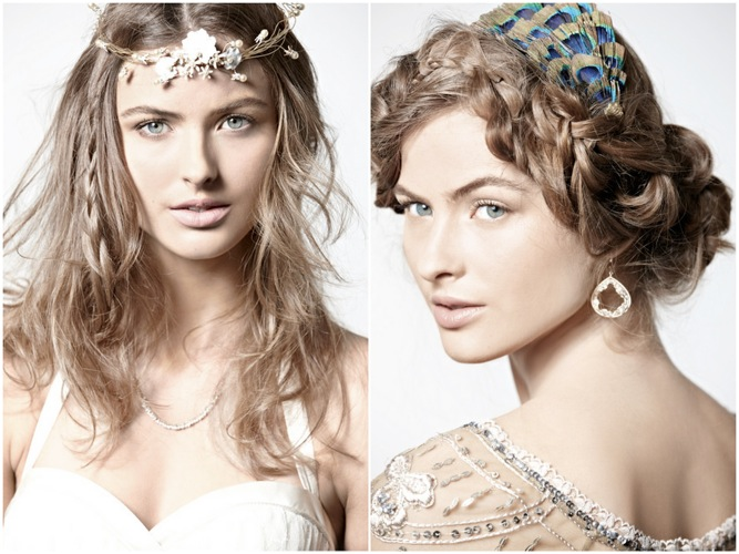 Boho DIY hairstyles from BHLDN