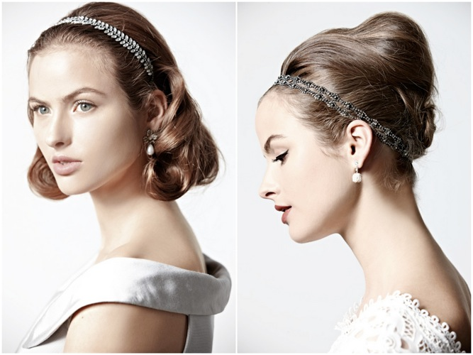Vintage DIY hairstyles from BHLDN