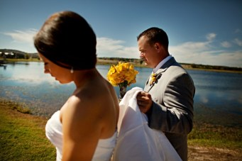 Modern, Rustic Yellow & Grey Ranch Wedding ~ The Film